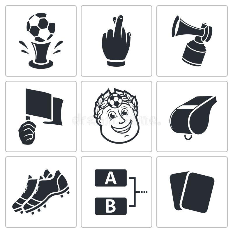 Download Piłek Nożnych Wektorowe Ikony Ustawiać Ilustracja Wektor - Ilustracja złożonej z piłka, ikona: 42525548