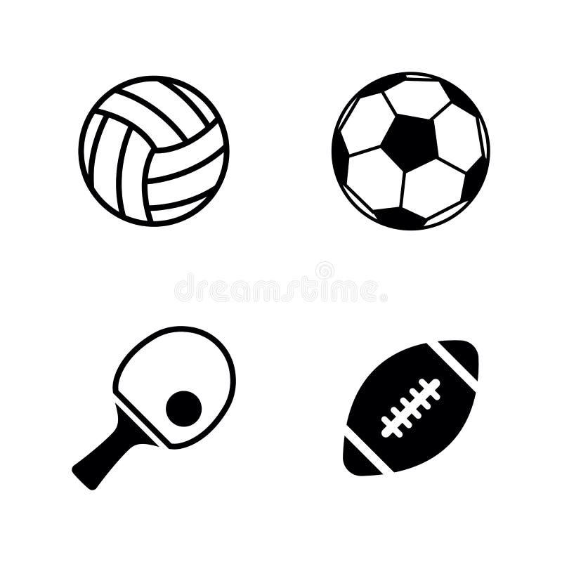piłek projekta ustalony sport ty Proste Powiązane Wektorowe ikony ilustracji
