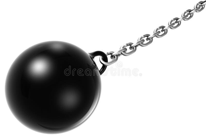 piłka łańcuch ilustracja wektor