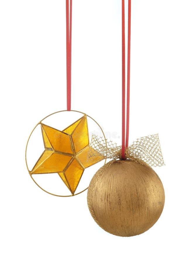 piłka świątecznej zdjęć gwiazdy pionowe obrazy stock