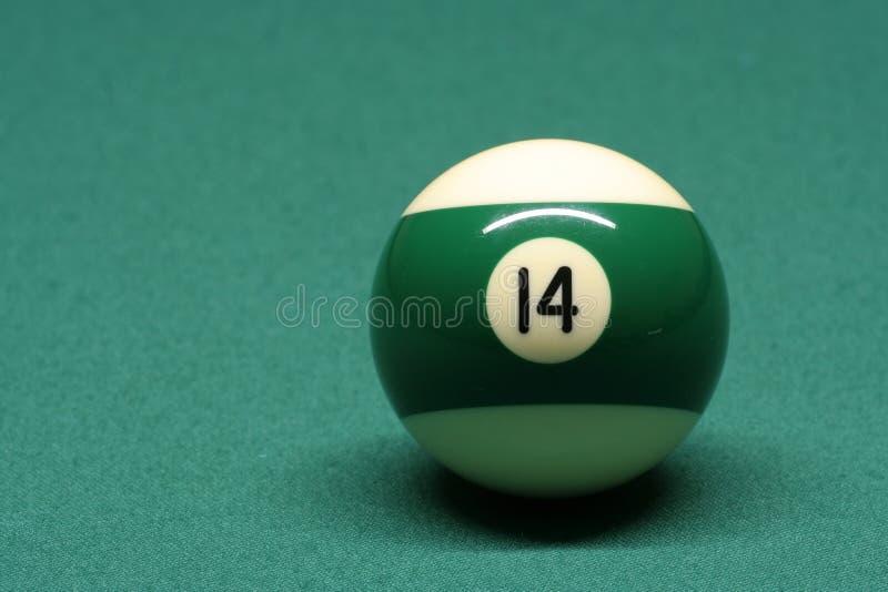 piłka 14 numer basenu obrazy stock