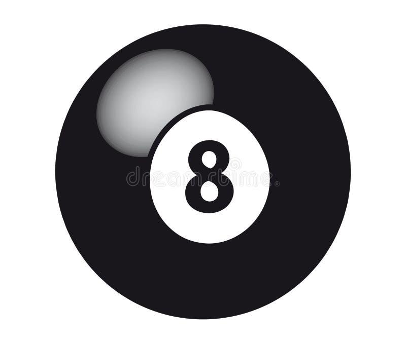 piłka 8 ilustracja wektor