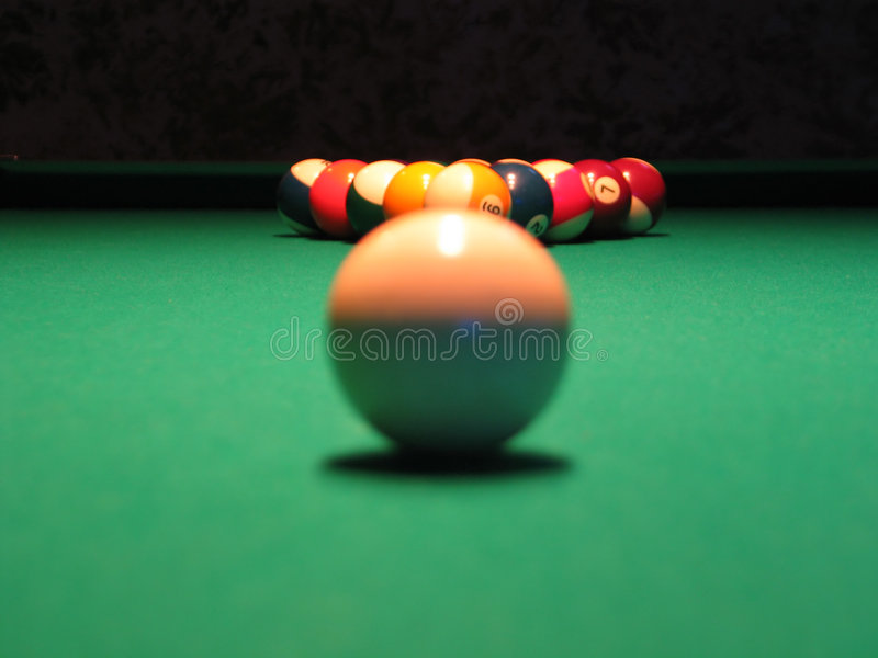 piłka 8 basen fotografia stock