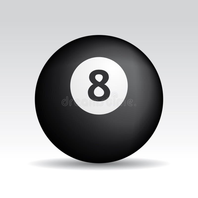 piłka cienie osiem ilustracja wektor