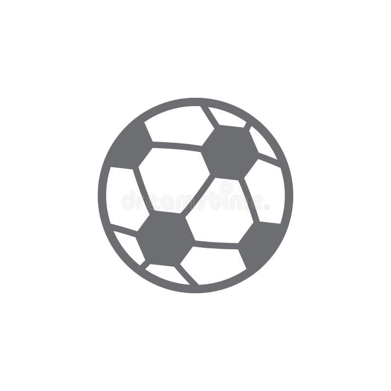 piłka dla futbolowej ikony Prosta element ilustracja piłka dla futbolowego symbolu projekta szablonu Może używać dla sieci i wisz royalty ilustracja