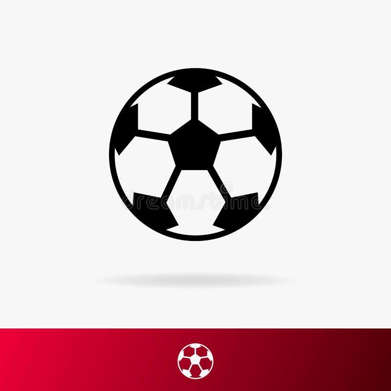 Piłka dla futbolowej ikony ustawia odosobnionego na tle dla turnieju, piłki nożnej filiżanki logo royalty ilustracja