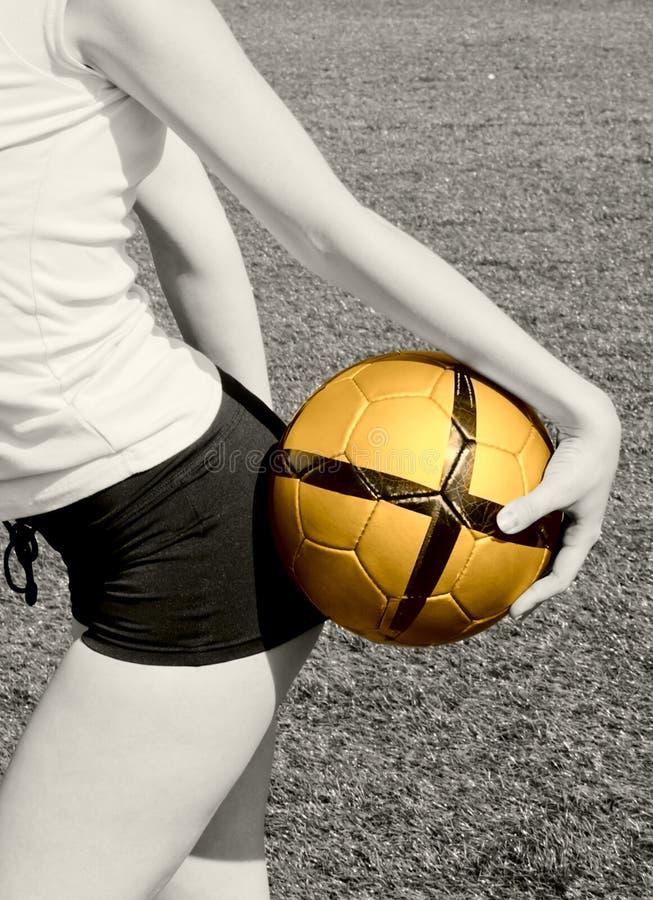 piłka dziewczynę, by zdjęcia stock