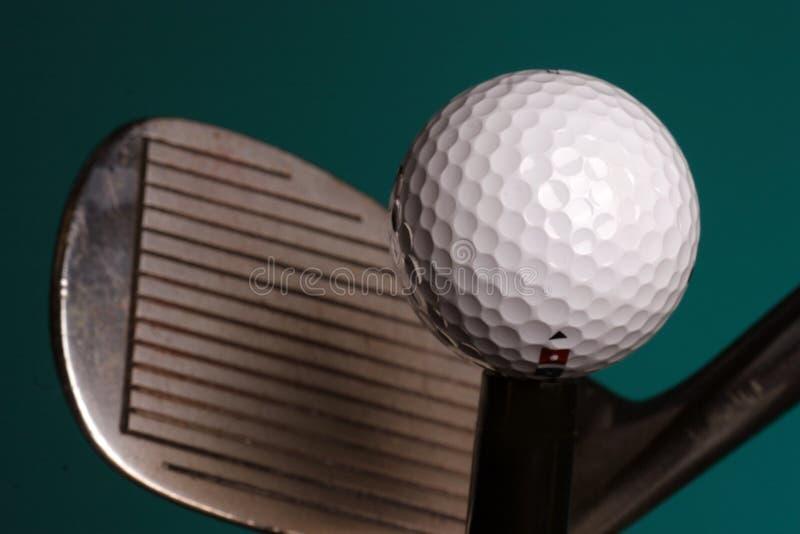 piłka golfa żelaza zdjęcia royalty free