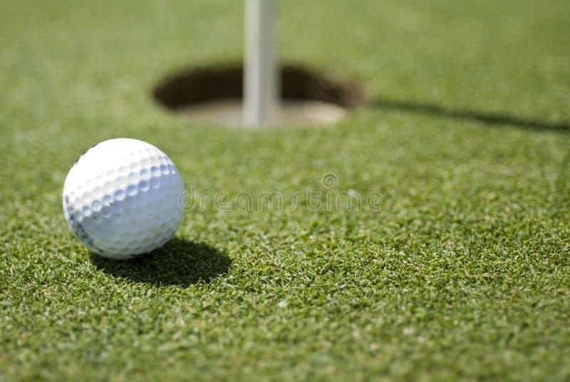 piłka golfa green fotografia stock