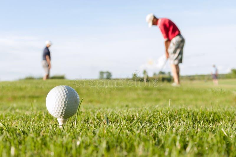 Piłka golfowa na kursie fotografia royalty free