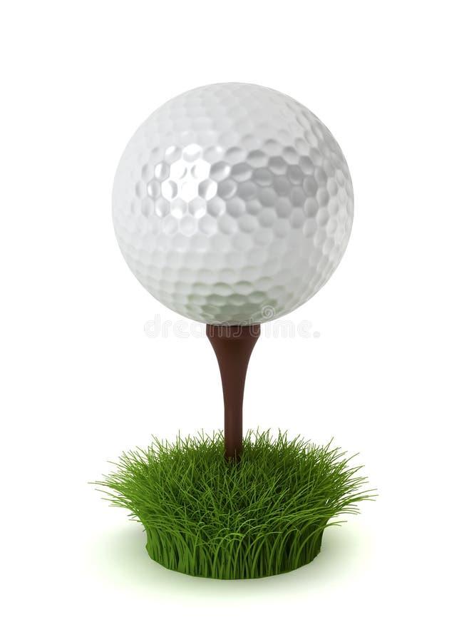 Piłka golfowa na trawie ilustracja wektor