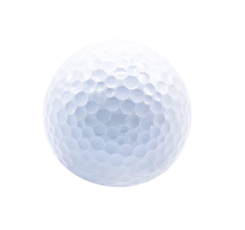 Piłka golfowa odizolowywająca na białym tle z ścinek ścieżką obraz stock