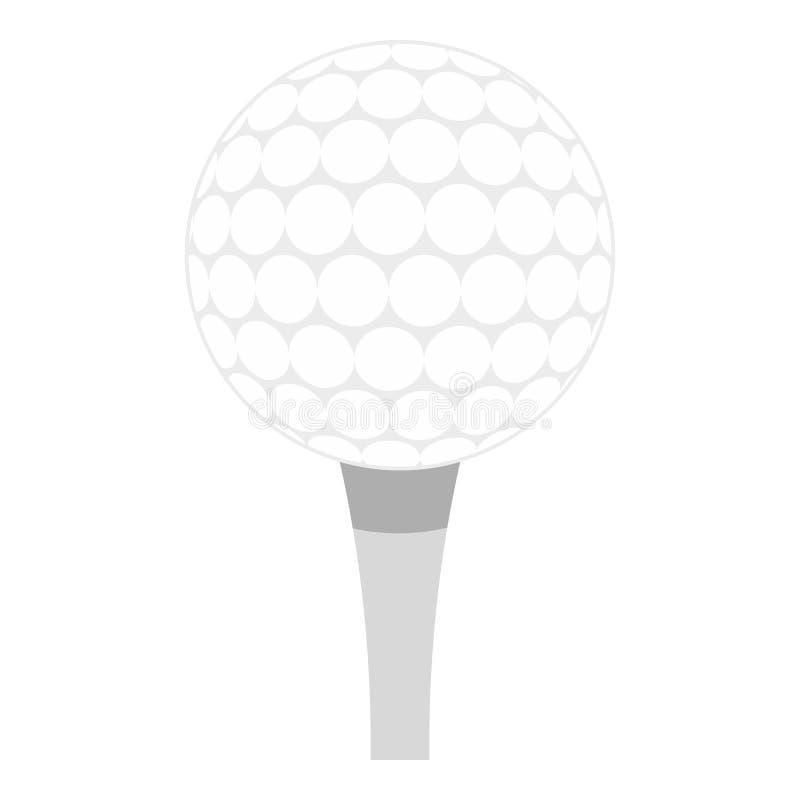 Piłka golfowa z trójnik ikoną odizolowywającą ilustracji