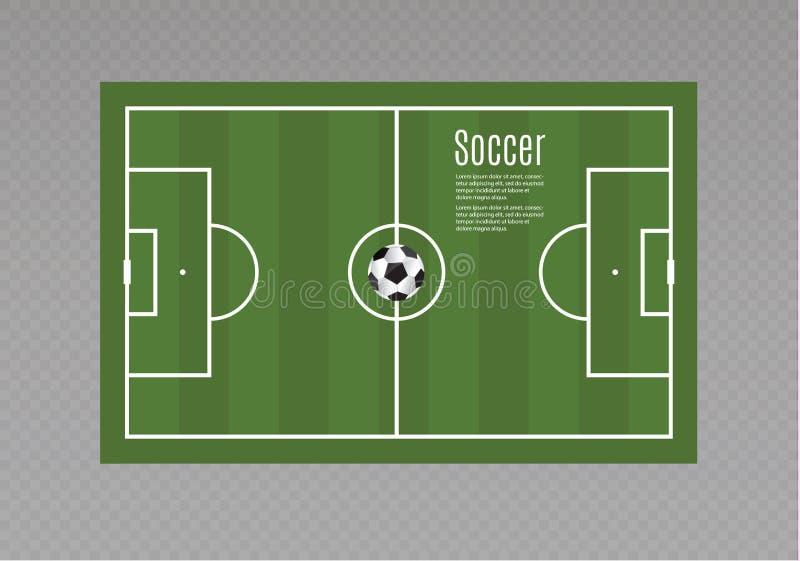 Piłka kłama na trawie piłka nożna również zwrócić corel ilustracji wektora Piękna piłka i zielona trawa Ulotka projekta szablon ilustracja wektor