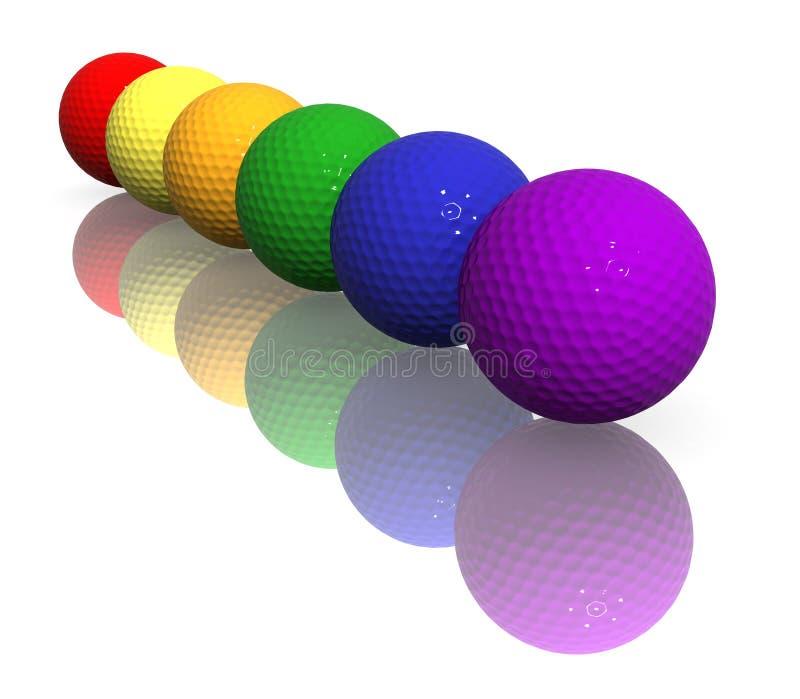 piłka kolorów w golfa ilustracji