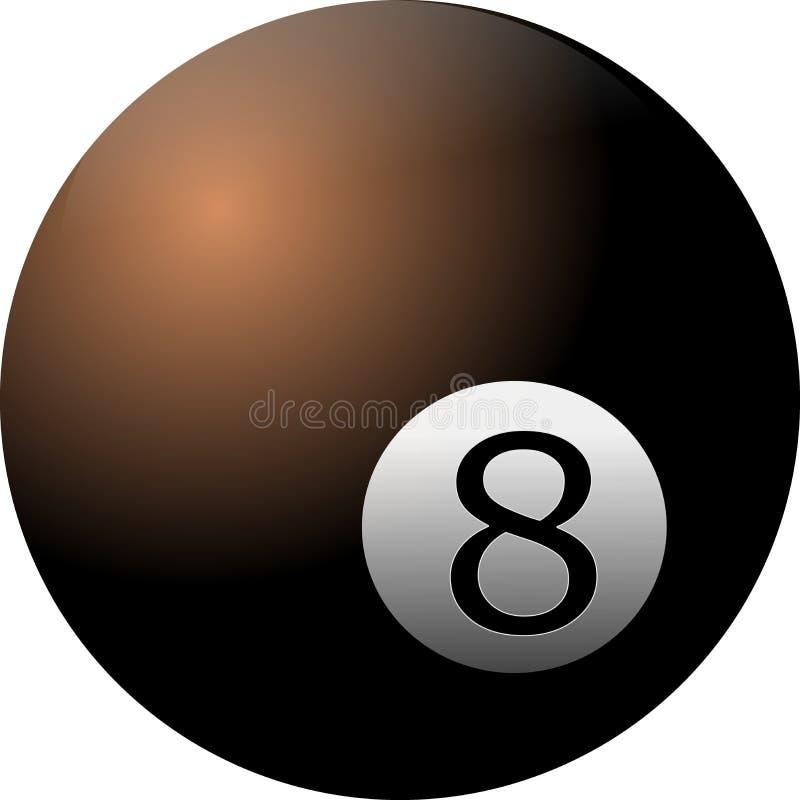 8 piłka na białym tle ilustracji