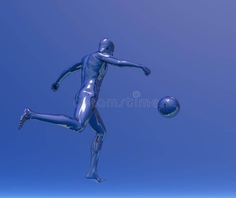 Download Piłka nożna ilustracji. Ilustracja złożonej z błękitny - 13326697