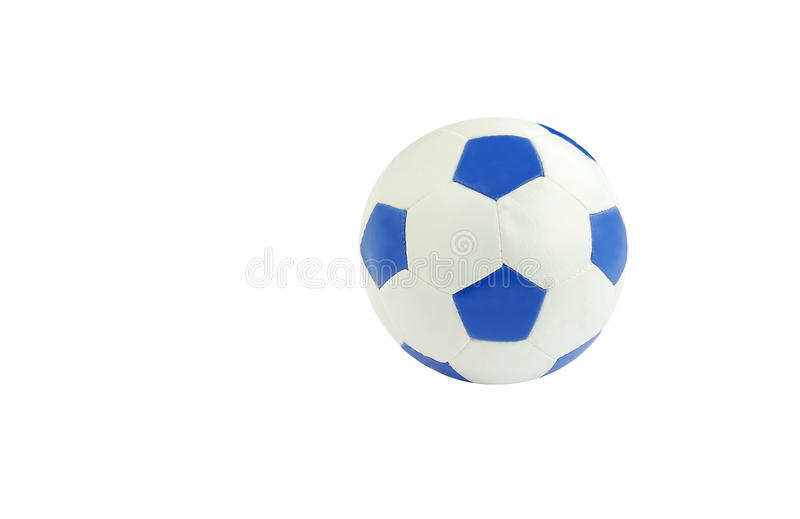 piłka nożna błękitny odosobniony biel fotografia stock