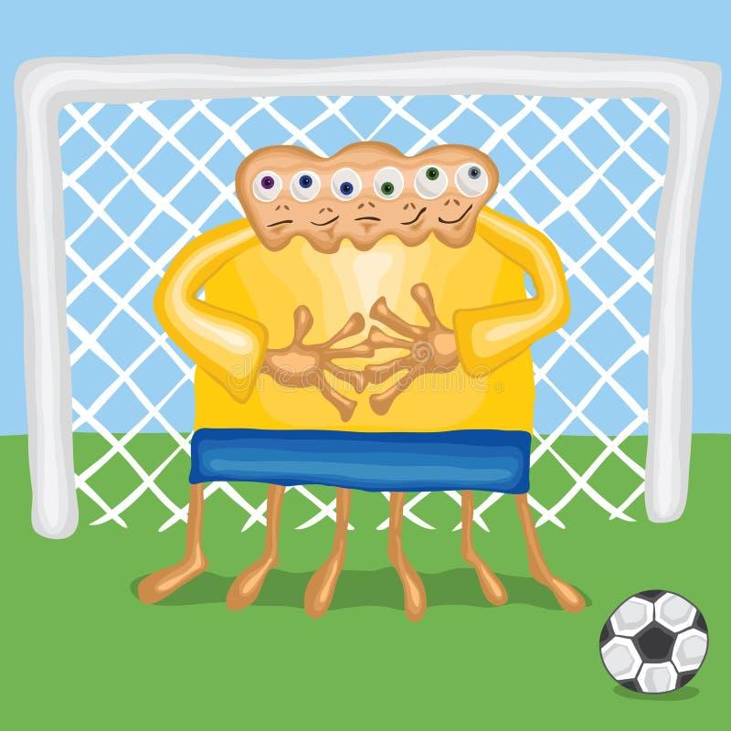 Piłka nożna bramkarz ilustracja wektor