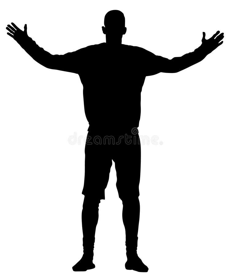 Piłka nożna bramkarza sylwetki wektor Handball bramkarza sylwetki czerń royalty ilustracja