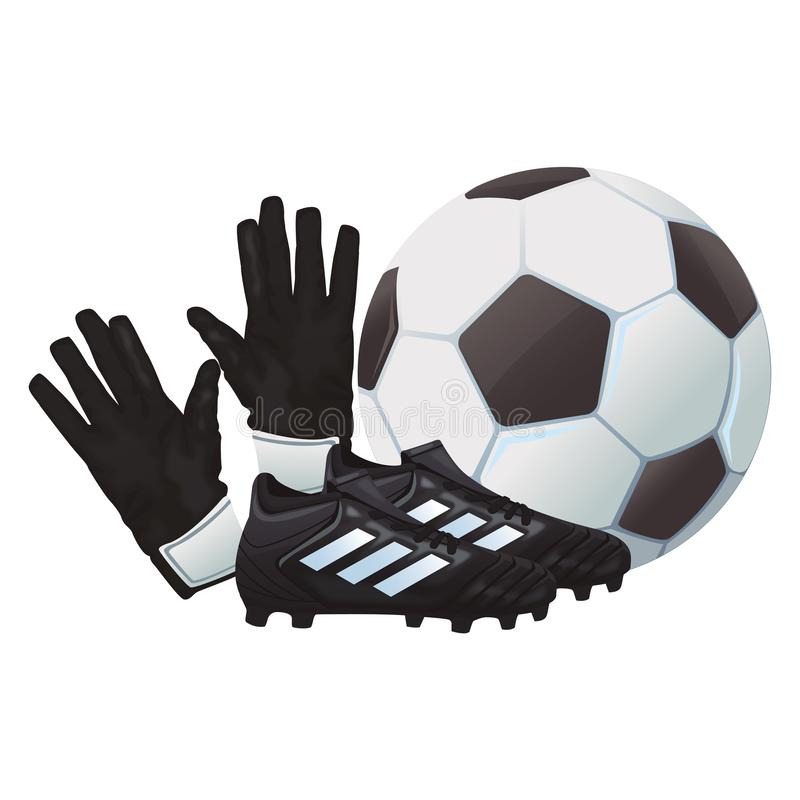Piłka nożna buty z piłką ilustracja wektor