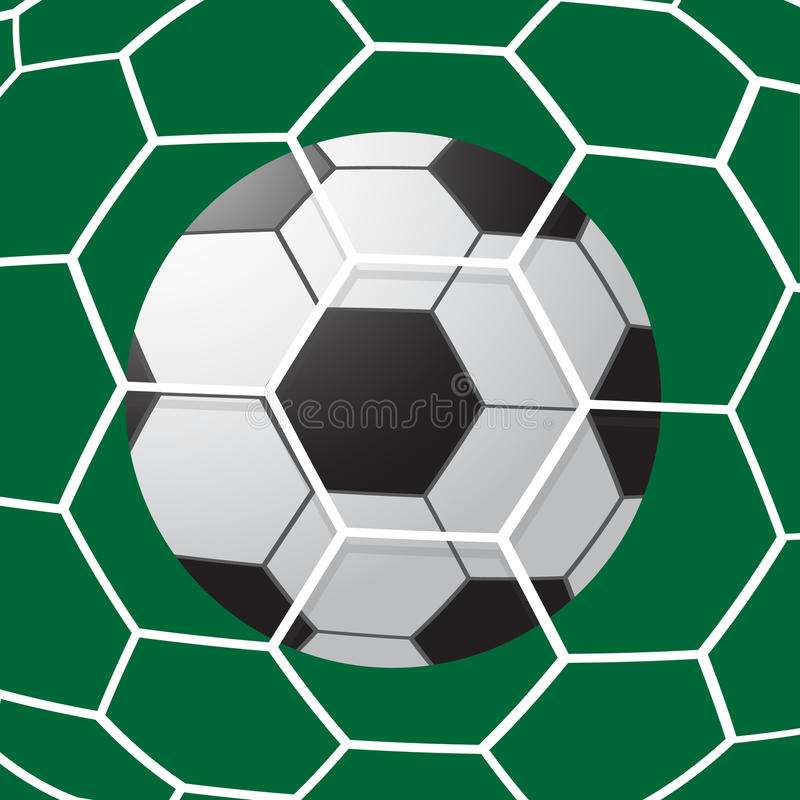Piłka nożna Cel royalty ilustracja