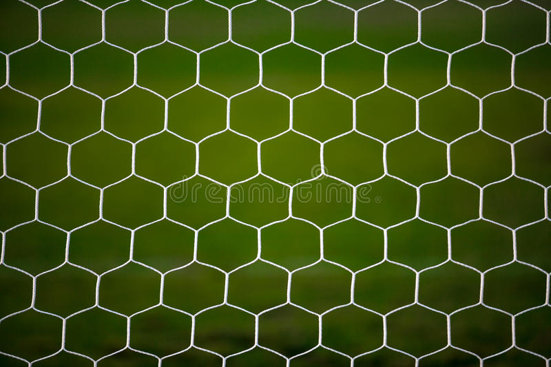 Piłka nożna celu sieć obrazy royalty free