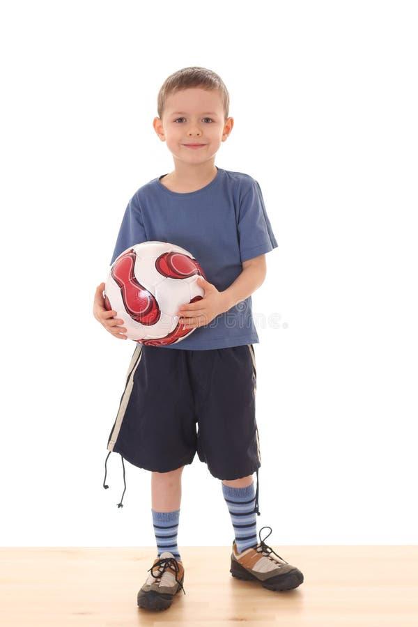 piłka nożna chłopca obraz stock