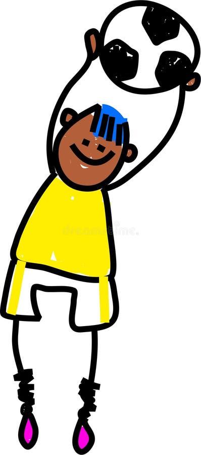 piłka nożna dziecko ilustracji