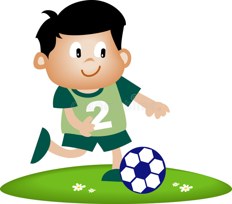 piłka nożna dziecko ilustracja wektor