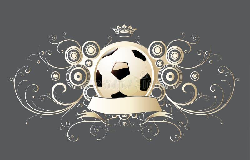 Piłka nożna emblemat ilustracji