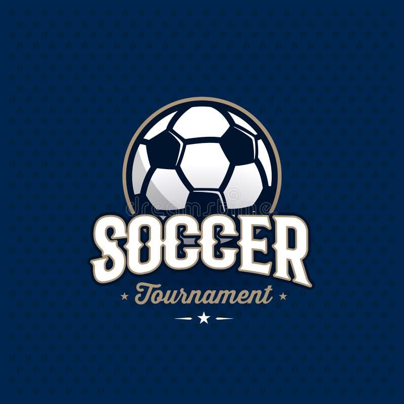 Piłka nożna emblemata błękit ilustracji
