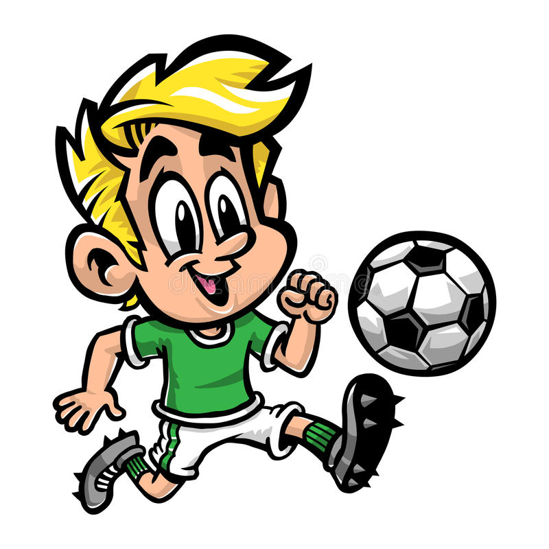 Piłka nożna Futbolowy dzieciak ilustracji
