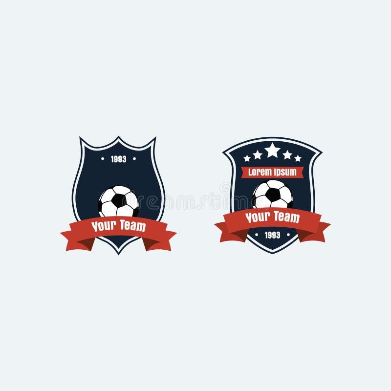 Piłka nożna futbolu klubu logo obraz royalty free