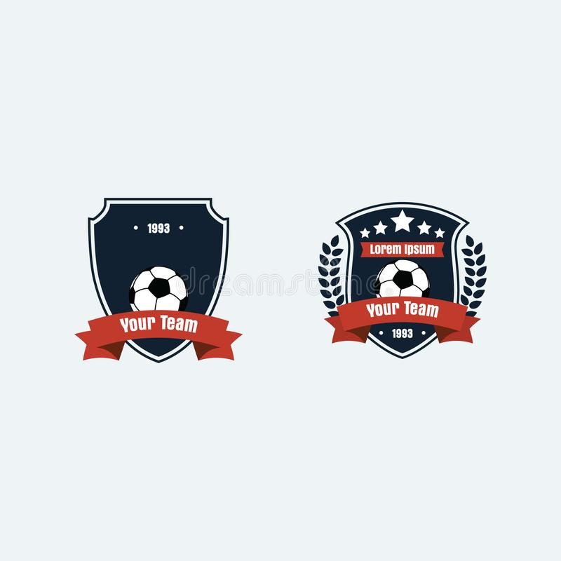 Piłka nożna futbolu klubu logo fotografia stock