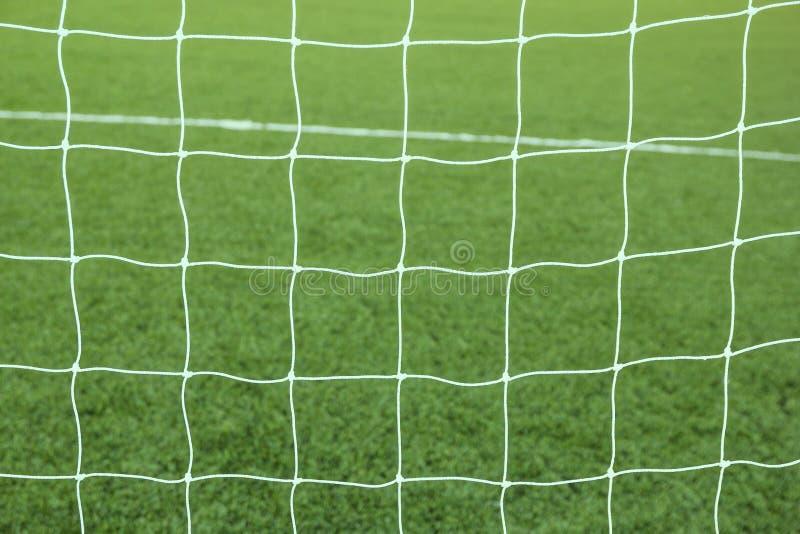 Piłka nożna futbolu sieci tło obraz royalty free