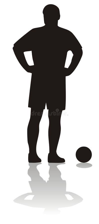 piłka nożna gracza ilustracji