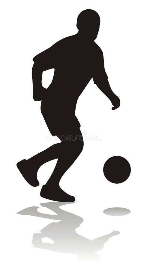 piłka nożna gracza royalty ilustracja