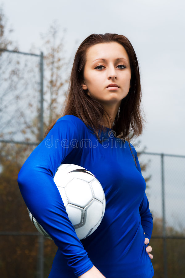 piłka nożna gracza zdjęcie royalty free