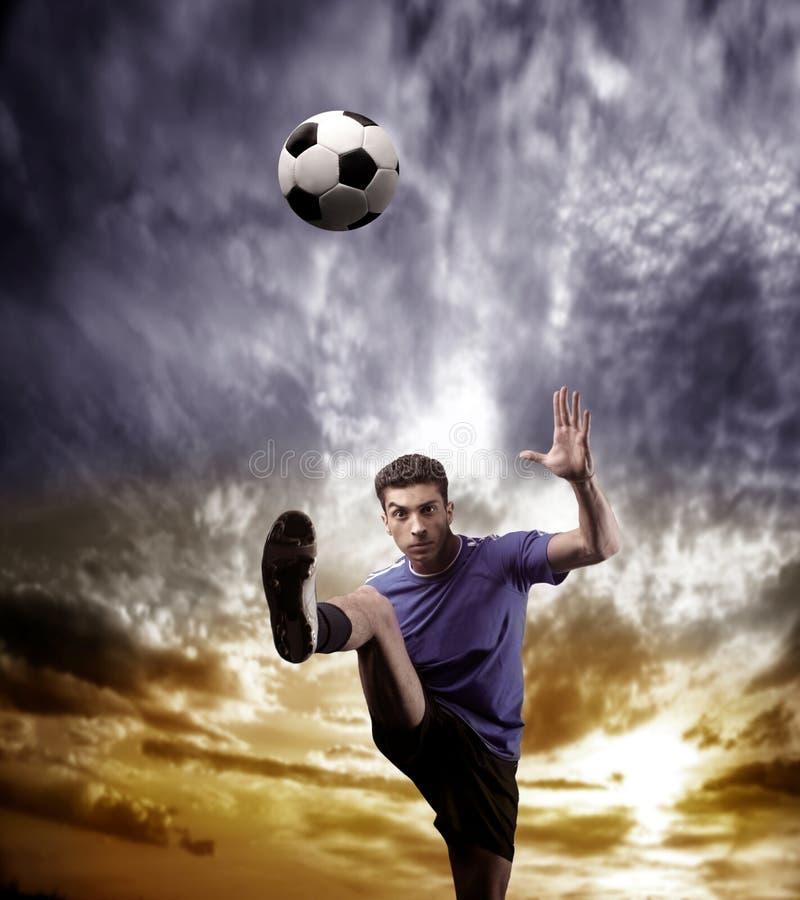 piłka nożna gracza zdjęcia royalty free
