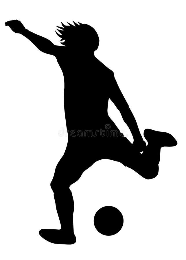 piłka nożna gracza ilustracja wektor