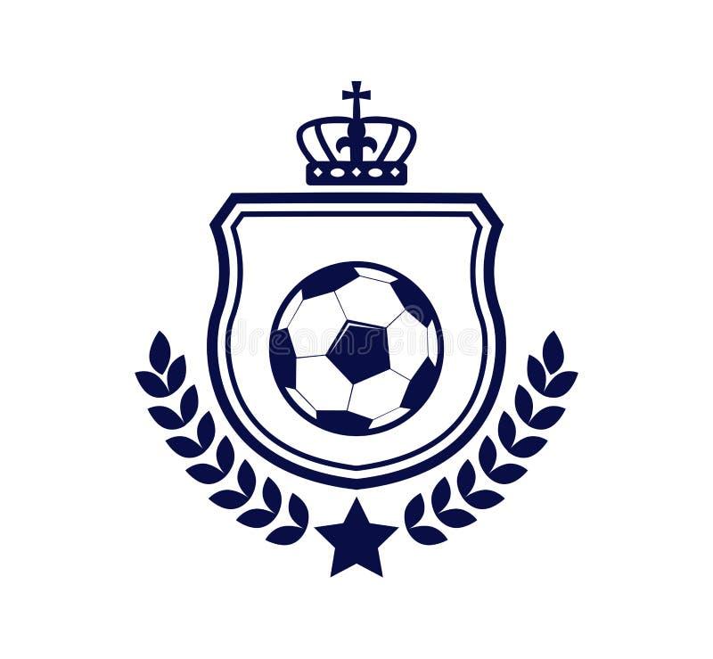 piłka nożna grzebienia emblemata logo projekta futbolowa inspiracja ilustracja wektor