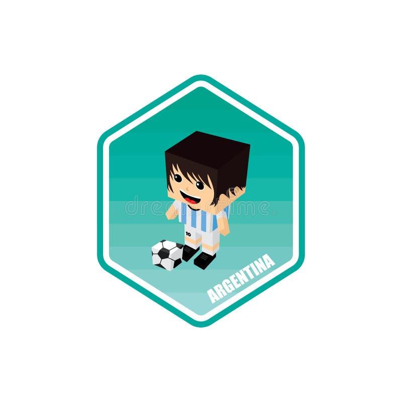 piłka nożna isometric temat Argentina ilustracji
