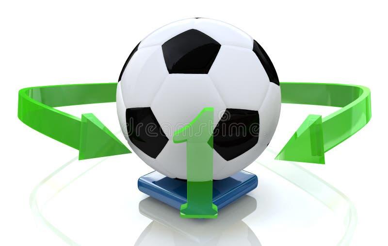 Piłka nożna liczba jeden ilustracja wektor