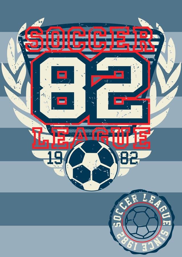 Piłka nożna liga 82. ilustracja wektor