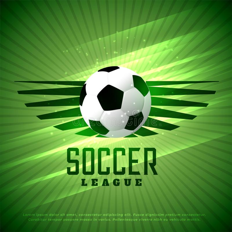Piłka nożna liga ulotki projekt bawi się tło ilustracji