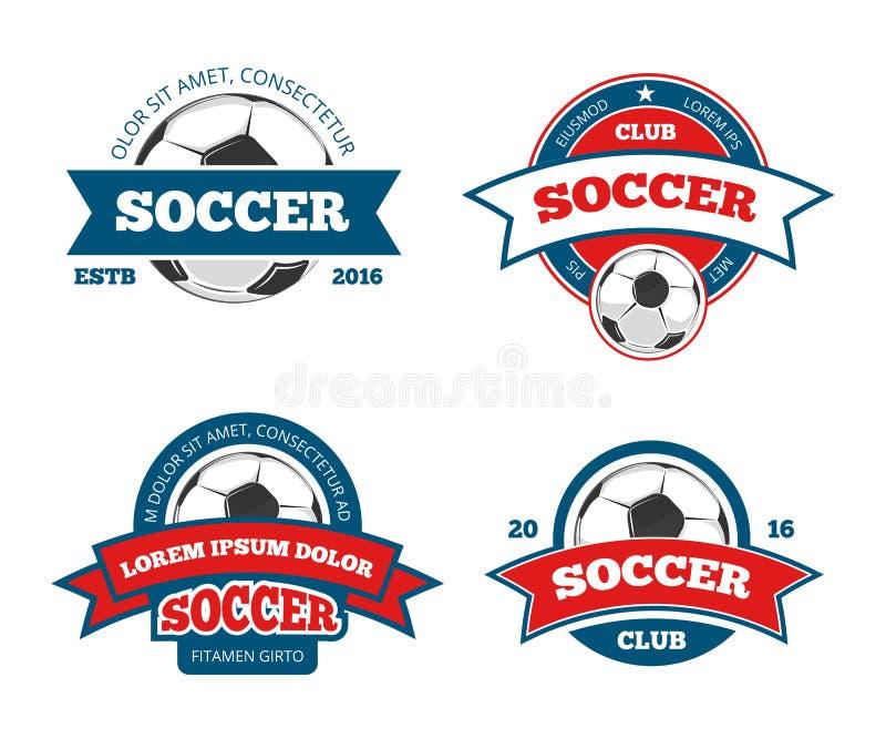 Piłka nożna loga set royalty ilustracja