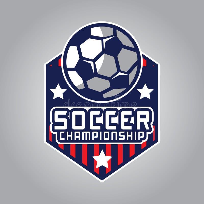 Piłka nożna logo, Ameryka logo ilustracja wektor