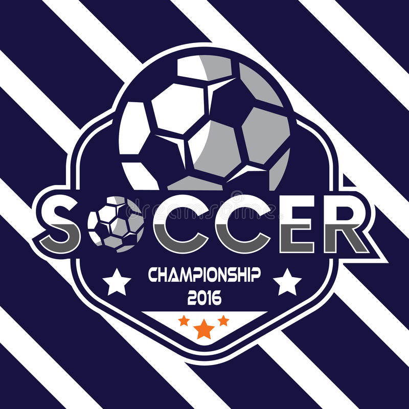 Piłka nożna logo, Ameryka logo royalty ilustracja