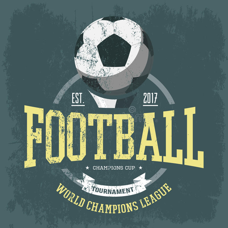 Piłka nożna logo lub drużyna futbolowa emblemat dla koszulki ilustracja wektor
